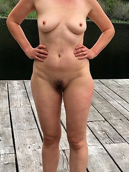 alfresco hairy pussy stripping