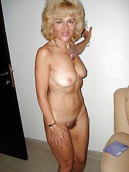 hairy blonde milf stripping