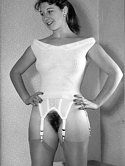 real vintage hairy women