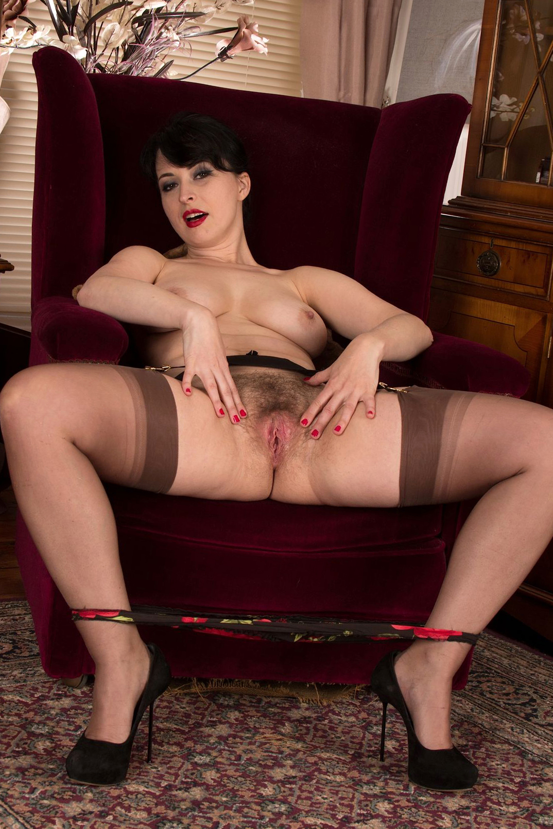 busty prudish battalion in nylons tease